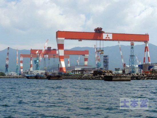 現代の三菱長崎造船所