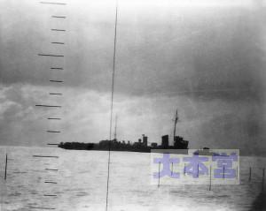 シーウルフが撮影した39号哨戒艇(蓼(たで))の沈没
