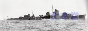 「秋月」宮津湾で公試中1943年