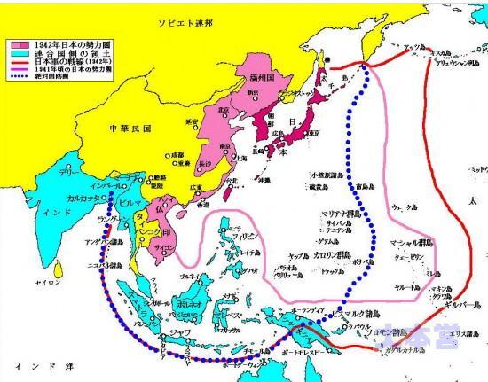 絶対国防圏地図