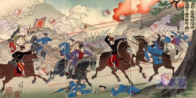 日露戦争、騎兵の襲撃を撃退