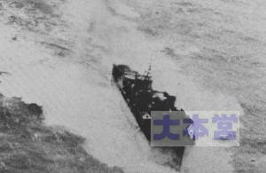 ヒ88J船団で応急艦首ながら奮戦する天津風