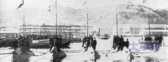 左より第一第五潜水艇