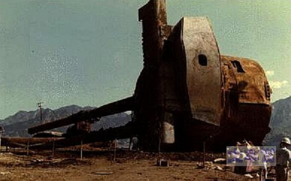 引揚げられた陸奥の主砲塔たぶん2番