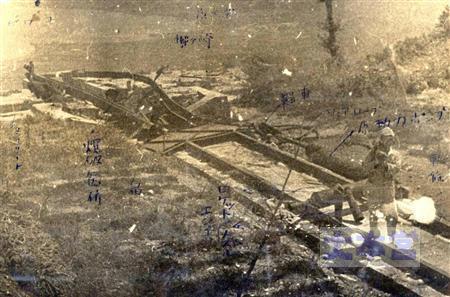 比叡山の桜花発射台(戦後撮影)