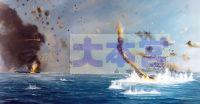 神風アタックを受ける戦艦テネシー