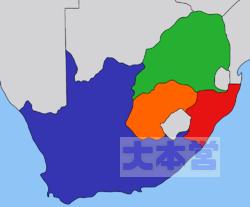 1840年の南アフリカ地図