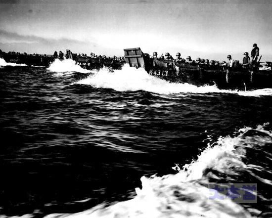 1945ルソン島上陸の第1波