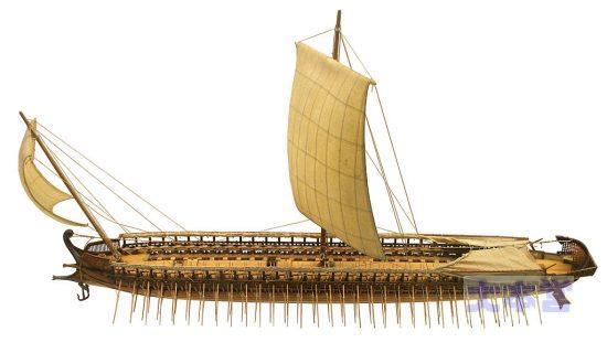 ギリシャ三段櫂軍船復元全体