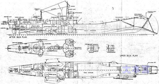 二等輸送艦 艦型図