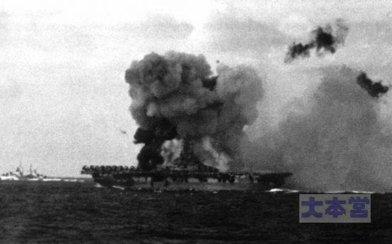 「笠置隊」の突入、敵空母はイントレピッド