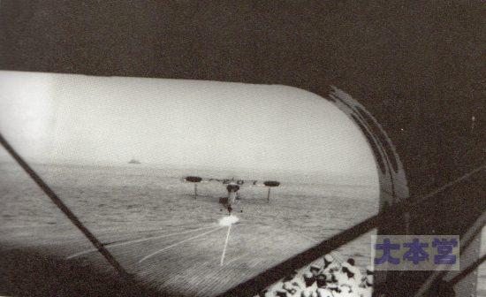 赤城の下甲板から発艦する10式艦戦