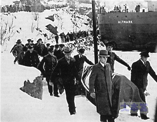アルトマルク事件の犠牲者の搬出