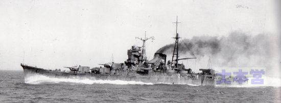 全力公試中の一番艦「最上」193昭和10年
