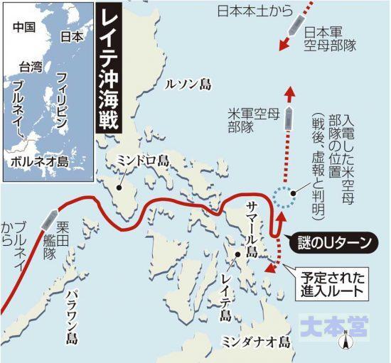レイテ沖海戦地図