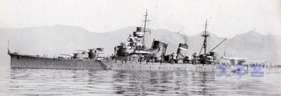 青葉1930、三田尻沖か