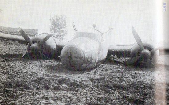 19年10月14日、台湾嘉儀飛行場近くに不時着した「飛竜」