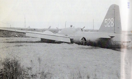 19年10月14日、台湾嘉儀飛行場近くに不時着した「飛竜」2