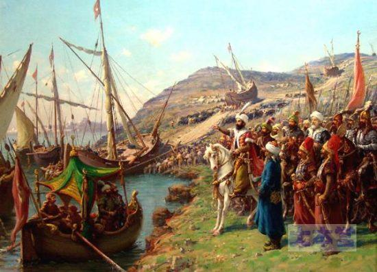 オスマン帝国艦隊は山でも越えちゃうのだ