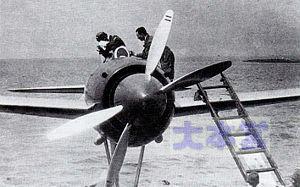 強風試作機の2重反転ペラ