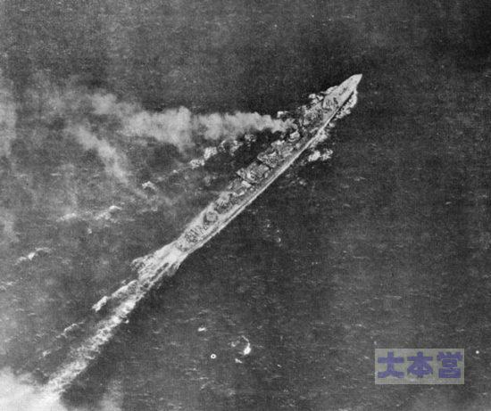 オルモック湾で撃沈寸前の島風
