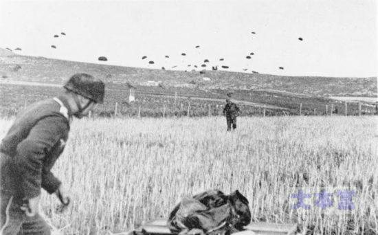 クレタ島での降下猟兵