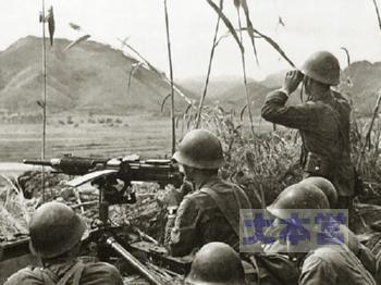 92式重機関銃の射撃