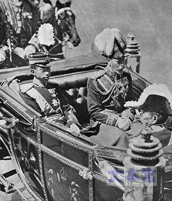 欧州訪問、先帝陛下とジョージ5世とバッキンガム宮殿へ