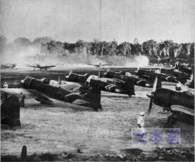 ラバウル航空隊の列線