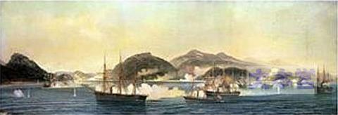 下関を砲撃する4国連合艦隊