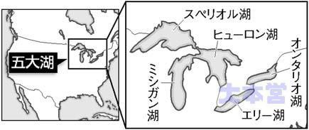 五大湖地図
