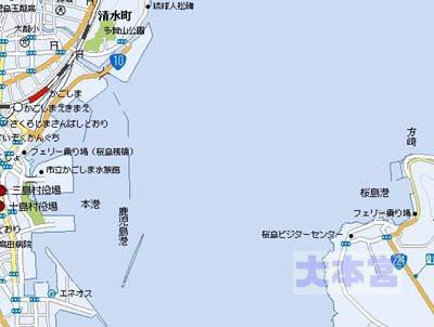 薩英戦争の英艦隊航跡2