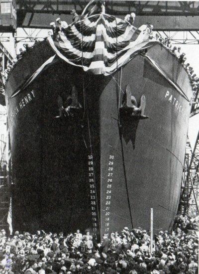 リバティ船パトリックヘンリーの進水式