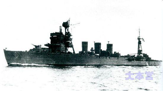 川内級五十鈴の防空艦への改装後