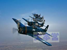 F8Fの編隊