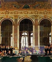1919.06.28ベルサイユ宮殿鏡の間