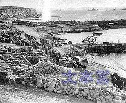 ガリポリの英軍上陸地点