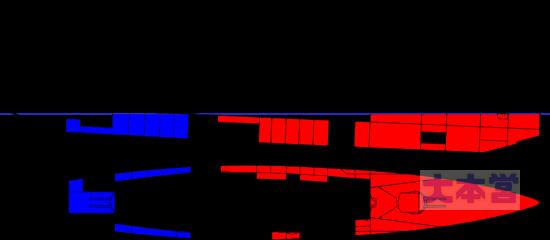 巡戦ザイドリッツの浸水図
