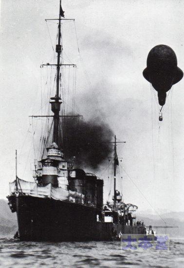 観測気球を上げる龍田