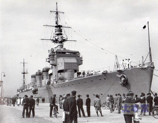 1937木曾、体験航海のため東京に停泊