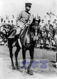 皇太子時代の昭和天皇と近衛騎兵連隊