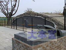 調布飛行場の戦闘機用の掩体壕