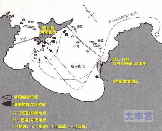 威海衛の戦い水雷艇隊の攻撃地
