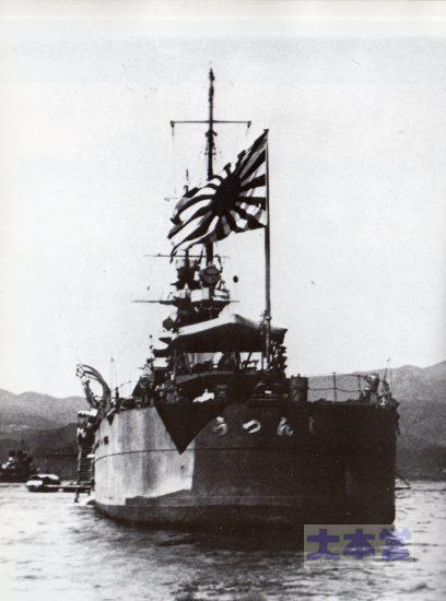 1929頃の神通、デストロイヤー・スターンに軍艦旗