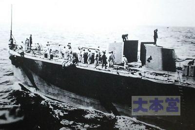 軽巡川内艦首部1,2番砲塔は密閉式じゃない