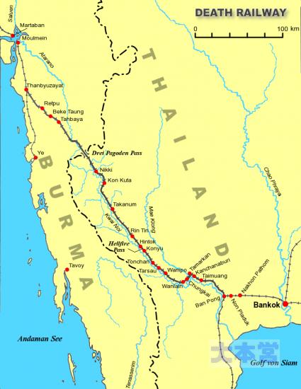 泰緬鉄道の路線