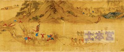 倭寇船vs明の軍船