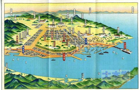 大泊町のイラスト地図