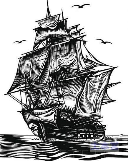 とくに意味はない帆船のイラスト