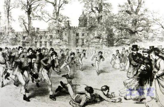 19世紀ラグビー校での競技